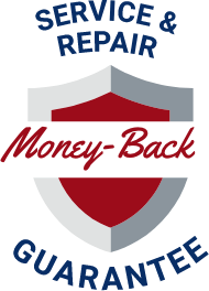 Service and repair money back guarantee badge